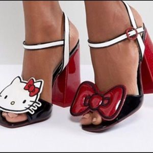 Shoes - NEW/NEVER WORN HELLO KITTY HIGH HEEL SANDALS 10M